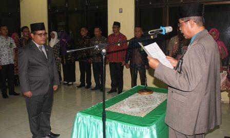 Ketua Pengadilan Agama Kisaran Lantik Sekretaris PA Kisaran Yang Baru