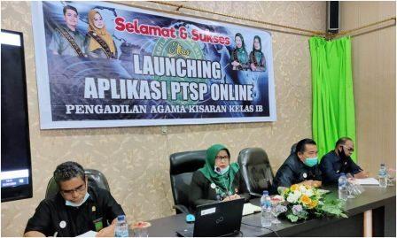 Launching Aplikasi PTSP Online Pengadilan Agama Kisaran Kelas IB