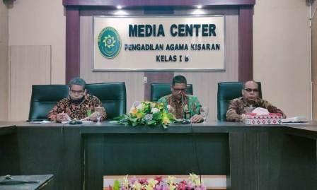 Rapat Penyampaian Hasil Rakor PTA Medan dengan Ketua, Panitera, dan Sekretaris PA Se-Sumatera Utara