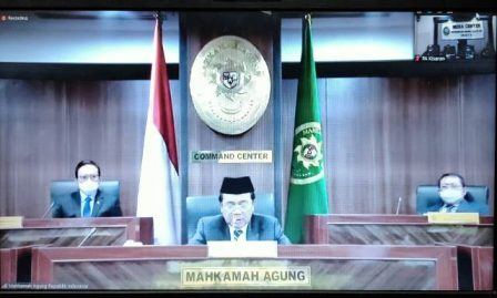 Jajaran Pimpinan PA Kisaran Ikuti Rakor Ditjen Badilag Tahun 2021